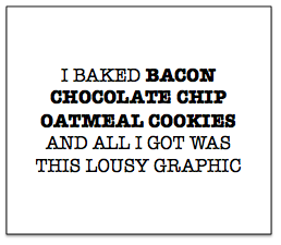 Bacon Chocolate Chip Oatmeal Cookies